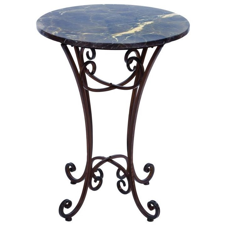 Accent Furniture Metal Marble Accent Table by UMA Enterprises, Inc. at Wilcox Furniture