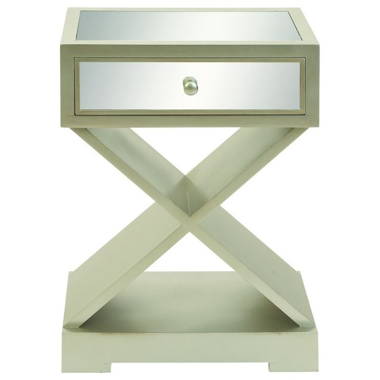 Accent Furniture Wood Mirror Side Table by UMA Enterprises, Inc. at Wilcox Furniture