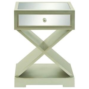 UMA Enterprises, Inc. Accent Furniture Wood Mirror Side Table