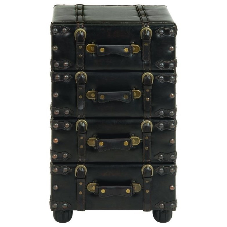 Accent Furniture Faux Leather Side Chest by UMA Enterprises, Inc. at Wilcox Furniture