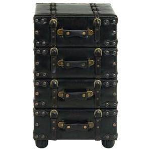 UMA Enterprises, Inc. Accent Furniture Faux Leather Side Chest