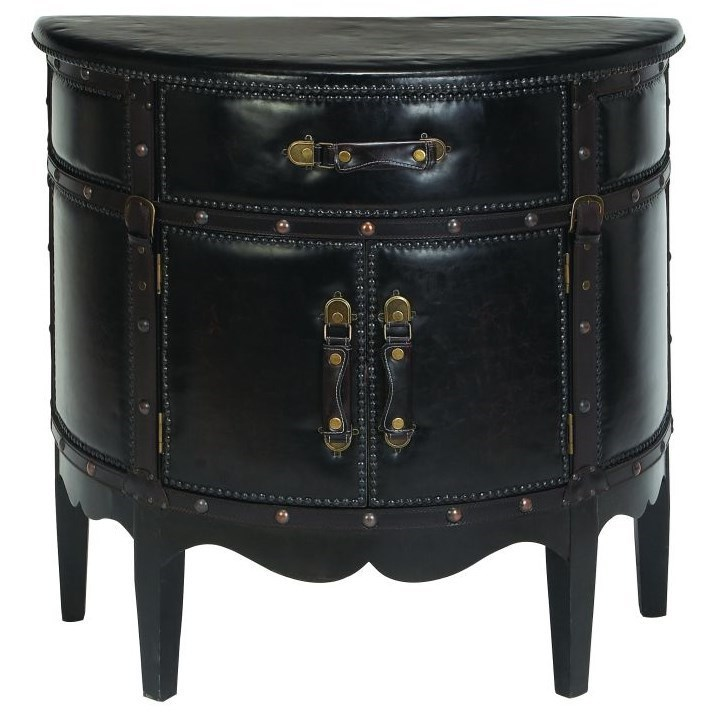 Accent Furniture Faux Leather Cabinet by UMA Enterprises, Inc. at Wilcox Furniture