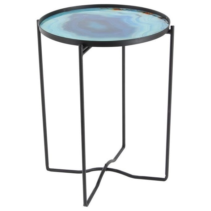 Accent Furniture Metal/Glass Table by UMA Enterprises, Inc. at Wilcox Furniture