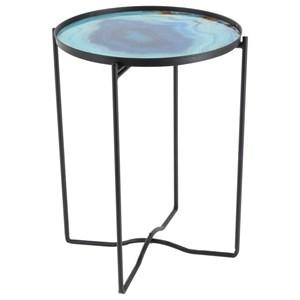 UMA Enterprises, Inc. Accent Furniture Metal/Glass Table