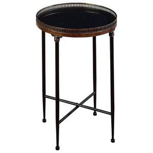 UMA Enterprises, Inc. Accent Furniture Metal/Marble Tray Table
