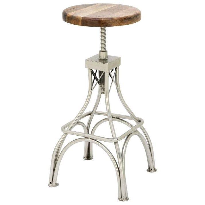 Accent Furniture Wood/Metal Stool by UMA Enterprises, Inc. at Wilcox Furniture