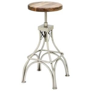 UMA Enterprises, Inc. Accent Furniture Wood/Metal Stool
