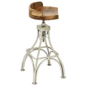 UMA Enterprises, Inc. Accent Furniture Metal/Wood Stool