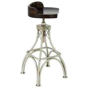 UMA Enterprises, Inc. Accent Furniture Metal Wood Stool