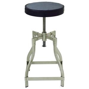 UMA Enterprises, Inc. Accent Furniture Metal/Leather Adj Stool