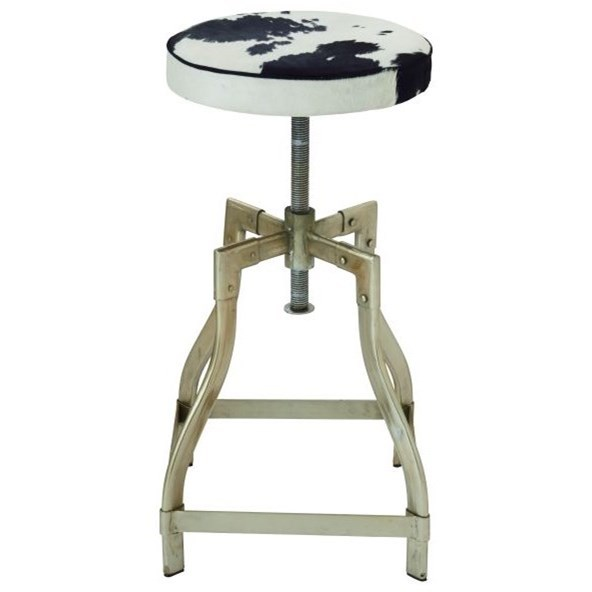 Accent Furniture Metl/Hide Leathr Adjustable Stool by UMA Enterprises, Inc. at Wilcox Furniture
