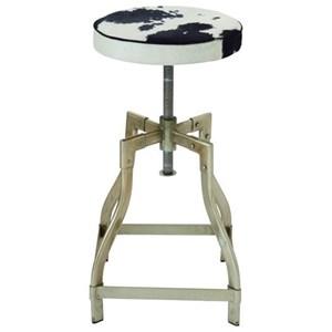 UMA Enterprises, Inc. Accent Furniture Metl/Hide Leathr Adjustable Stool
