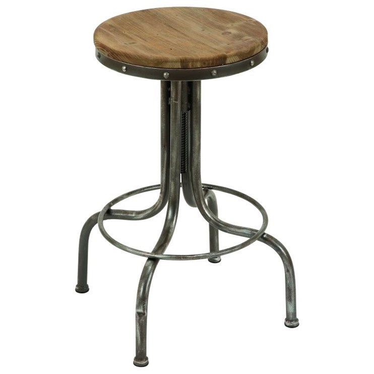 Accent Furniture Metal/Wood Bar Stool by UMA Enterprises, Inc. at Wilcox Furniture