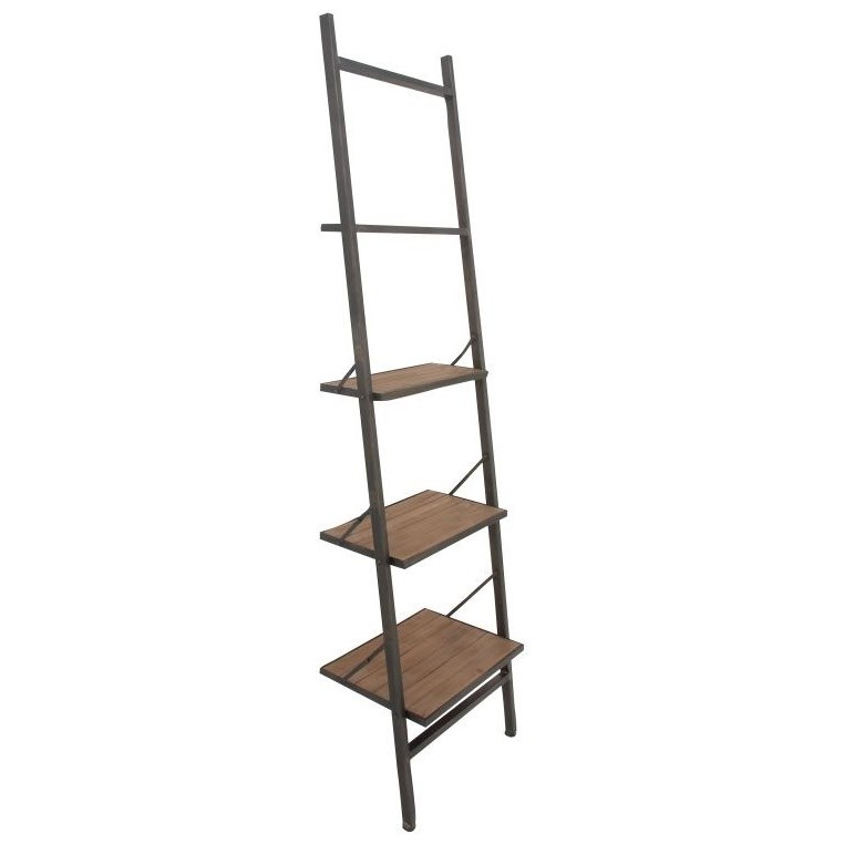 Metal/Wood Leaning Shelf