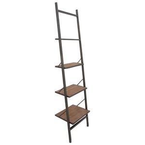 UMA Enterprises, Inc. Accent Furniture Metal/Wood Leaning Shelf