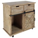 UMA Enterprises, Inc. Accent Furniture Wood/Metal Storage Cabinet - Item Number: 84249