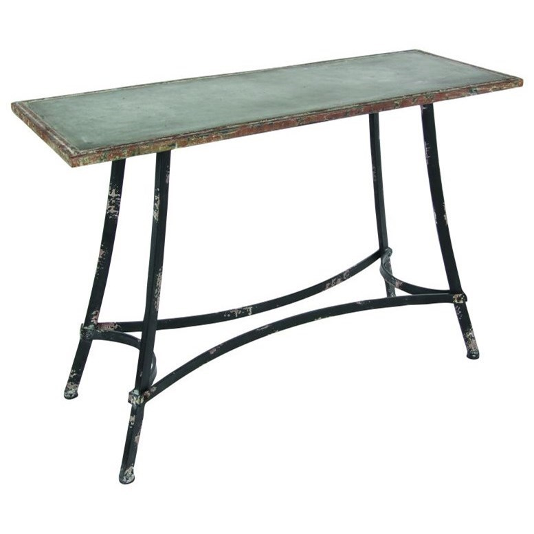 Accent Furniture Metal Console Table by UMA Enterprises, Inc. at Wilcox Furniture