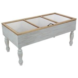 UMA Enterprises, Inc. Accent Furniture Wood/Glass Coffee Table