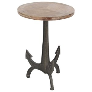 UMA Enterprises, Inc. Accent Furniture Metal/Wood Anchor Table