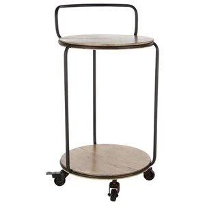 UMA Enterprises, Inc. Accent Furniture Metal/Wood Tea Cart