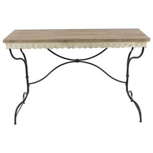 UMA Enterprises, Inc. Accent Furniture Metal/Wood Consol Table
