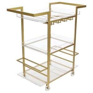 UMA Enterprises, Inc. Accent Furniture Metal/Acrylic Wine Cart