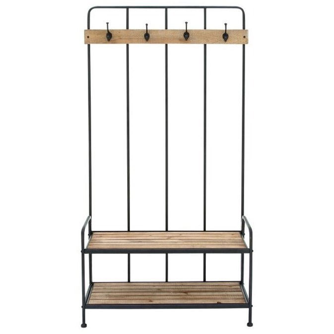 Metal/Wood Coat Rack