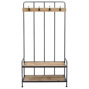 UMA Enterprises, Inc. Accent Furniture Metal/Wood Coat Rack
