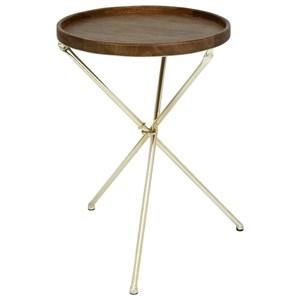 UMA Enterprises, Inc. Accent Furniture Metal/Wood Tray Table