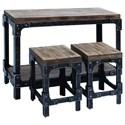 UMA Enterprises, Inc. Accent Furniture Wood Table & Stool Set - Item Number: 85976