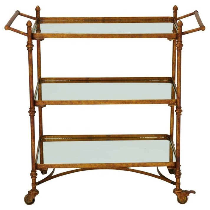 Metal/Mirror Bar Cart