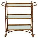 UMA Enterprises, Inc. Accent Furniture Metal/Mirror Bar Cart - Item Number: 87441