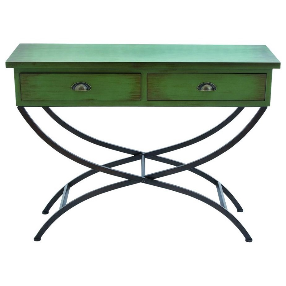 Metal/Wood Console Table