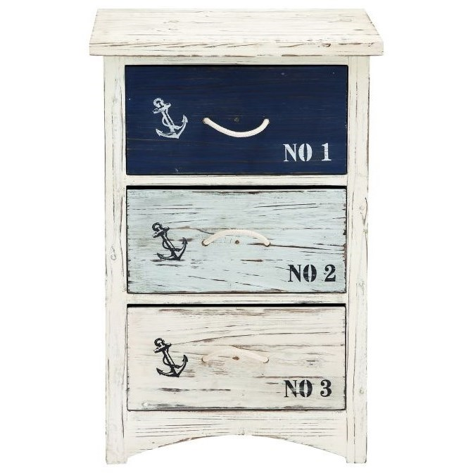 Accent Furniture Nautical Chest by UMA Enterprises, Inc. at Wilcox Furniture