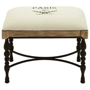 UMA Enterprises, Inc. Accent Furniture Metal/Wood Fabric Stool