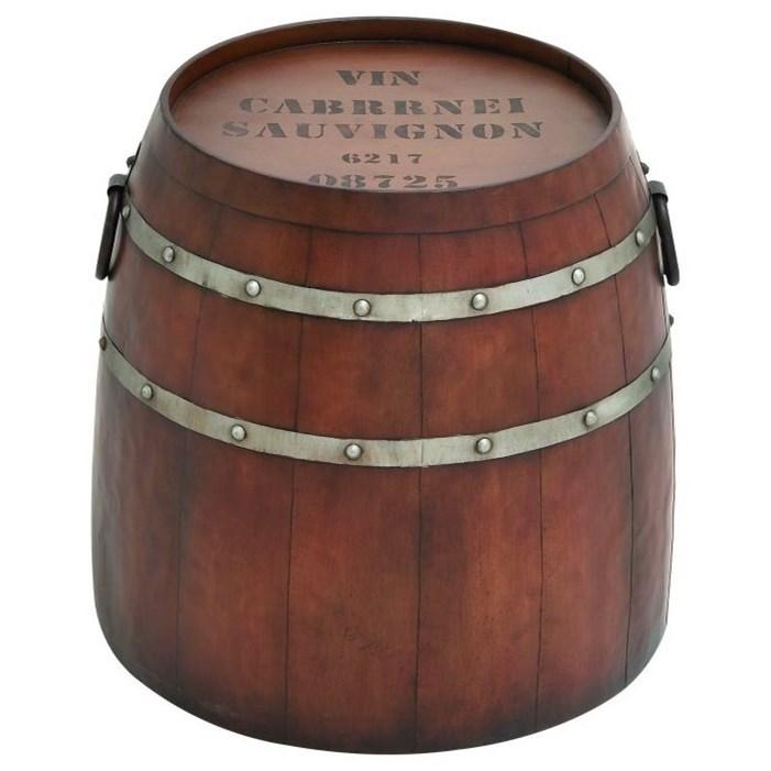 Accent Furniture Metal Barrel Accent Table by UMA Enterprises, Inc. at Wilcox Furniture