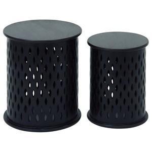 UMA Enterprises, Inc. Accent Furniture Wood Accent Tables, Set of 2