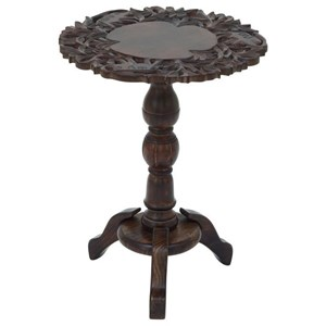 UMA Enterprises, Inc. Accent Furniture Wood Carved Accent Table