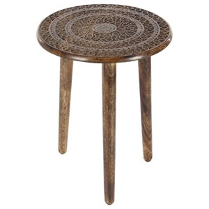 UMA Enterprises, Inc. Accent Furniture Wood Tripod Round Table