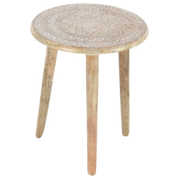Accent Furniture Wood Tripod Round Table by UMA Enterprises, Inc. at Wilcox Furniture