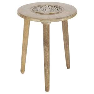 UMA Enterprises, Inc. Accent Furniture Wood Tripod Table