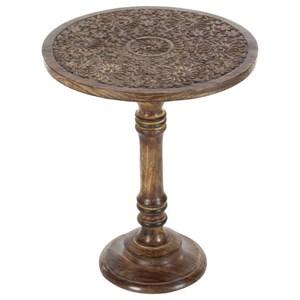 UMA Enterprises, Inc. Accent Furniture Wood Carved Table