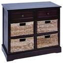 UMA Enterprises, Inc. Accent Furniture Wood/Wicker Basket Cabinet - Item Number: 96179