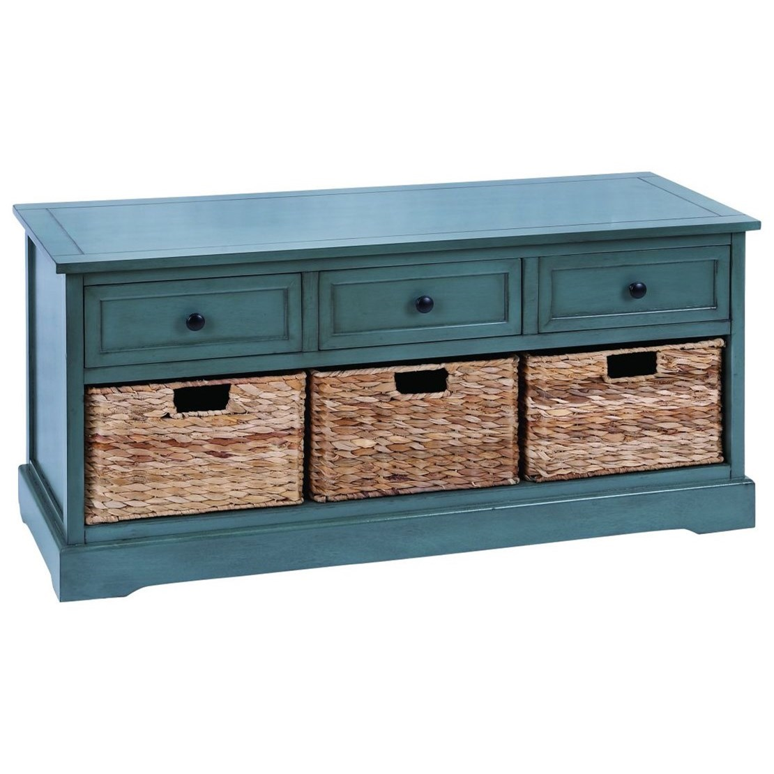 Wood/Wicker Basket Chest