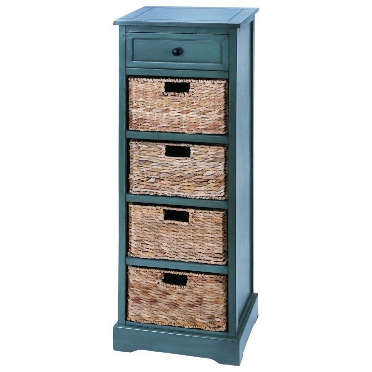 Accent Furniture Wood Wicker Basket Chest by UMA Enterprises, Inc. at Wilcox Furniture