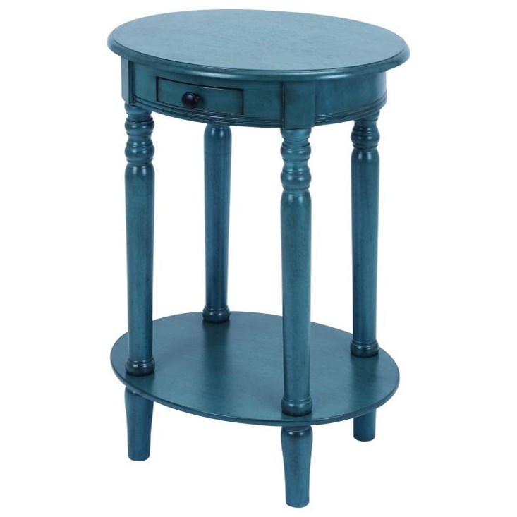 Accent Furniture Wood Oval Accent Table by UMA Enterprises, Inc. at Wilcox Furniture