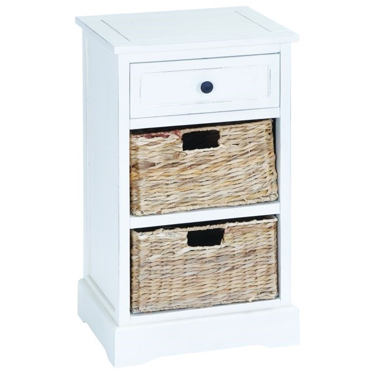 Accent Furniture Wood Basket Side Table by UMA Enterprises, Inc. at Wilcox Furniture