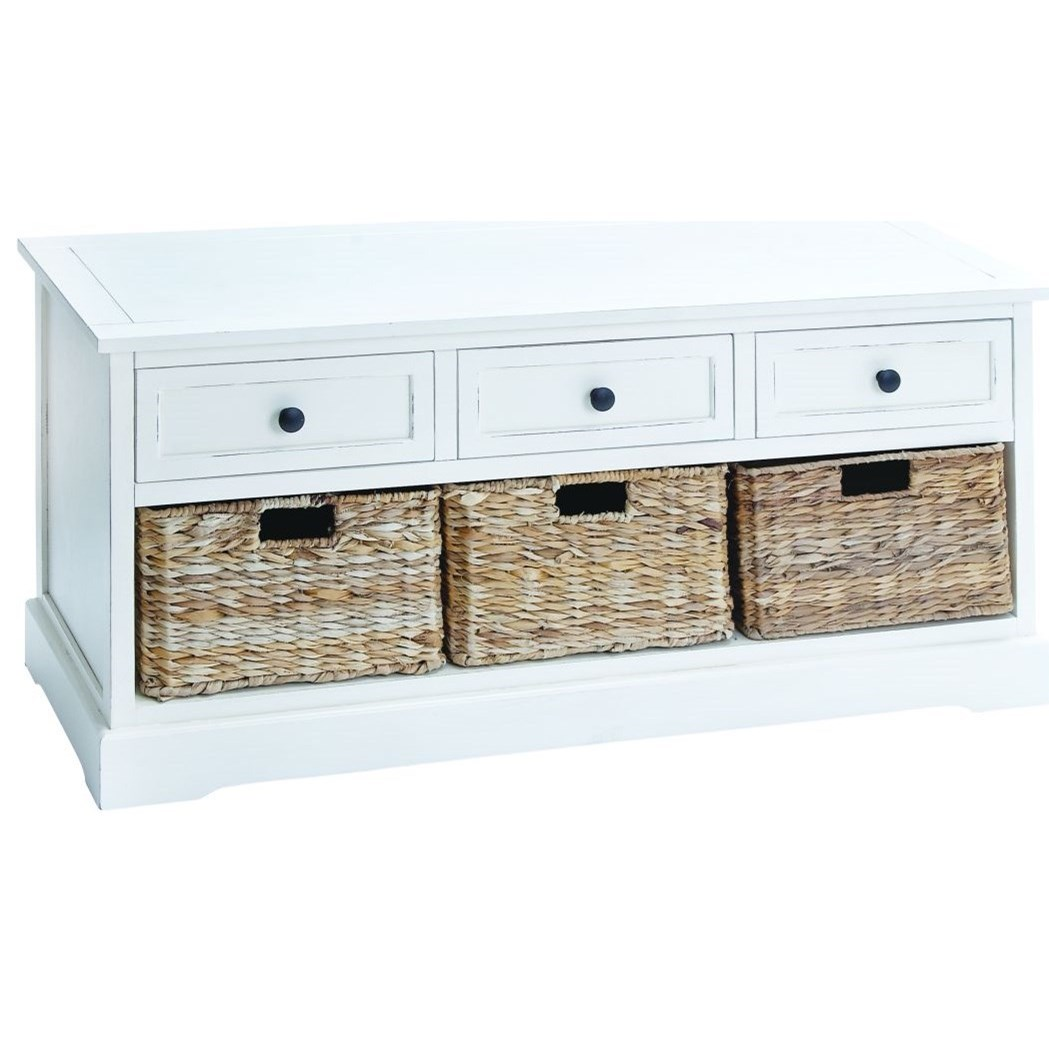 Accent Furniture Wood Basket Chest by UMA Enterprises, Inc. at Wilcox Furniture