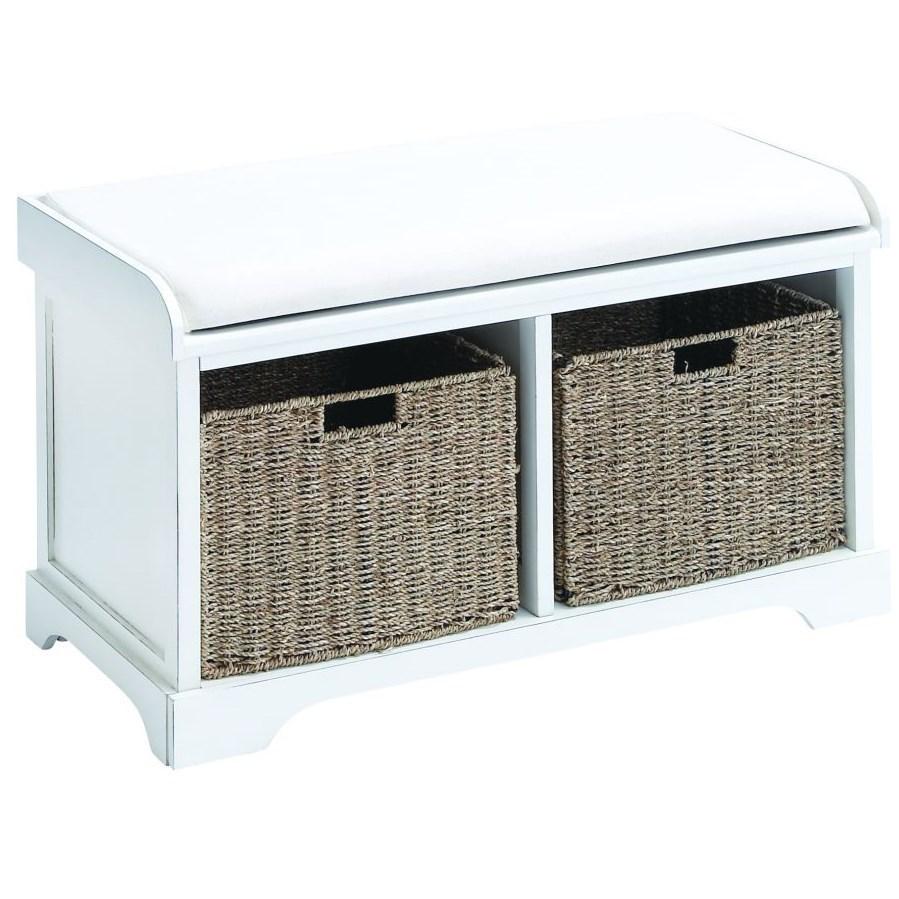 Accent Furniture Wood Basket Bench by UMA Enterprises, Inc. at Wilcox Furniture