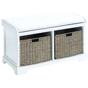 UMA Enterprises, Inc. Accent Furniture Wood Basket Bench